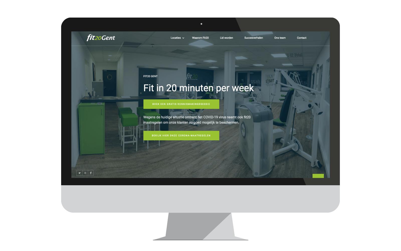 fit20 Gent nieuwe website